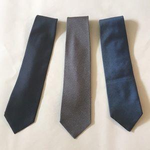 3 Armani Collezioni mens neck ties made in Italy